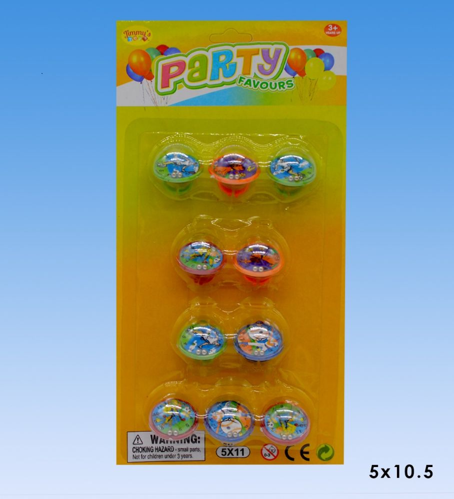 48 Wholesale Party favors rings in blister card