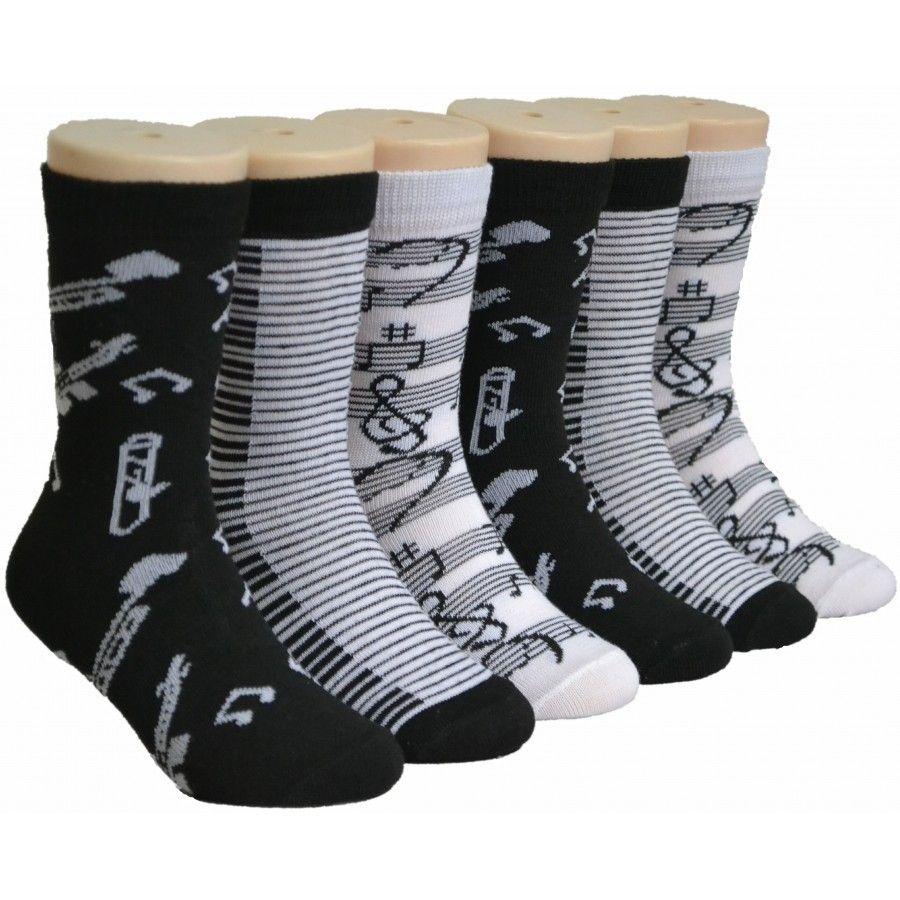 480 Bulk Musical Girls Crew Socks