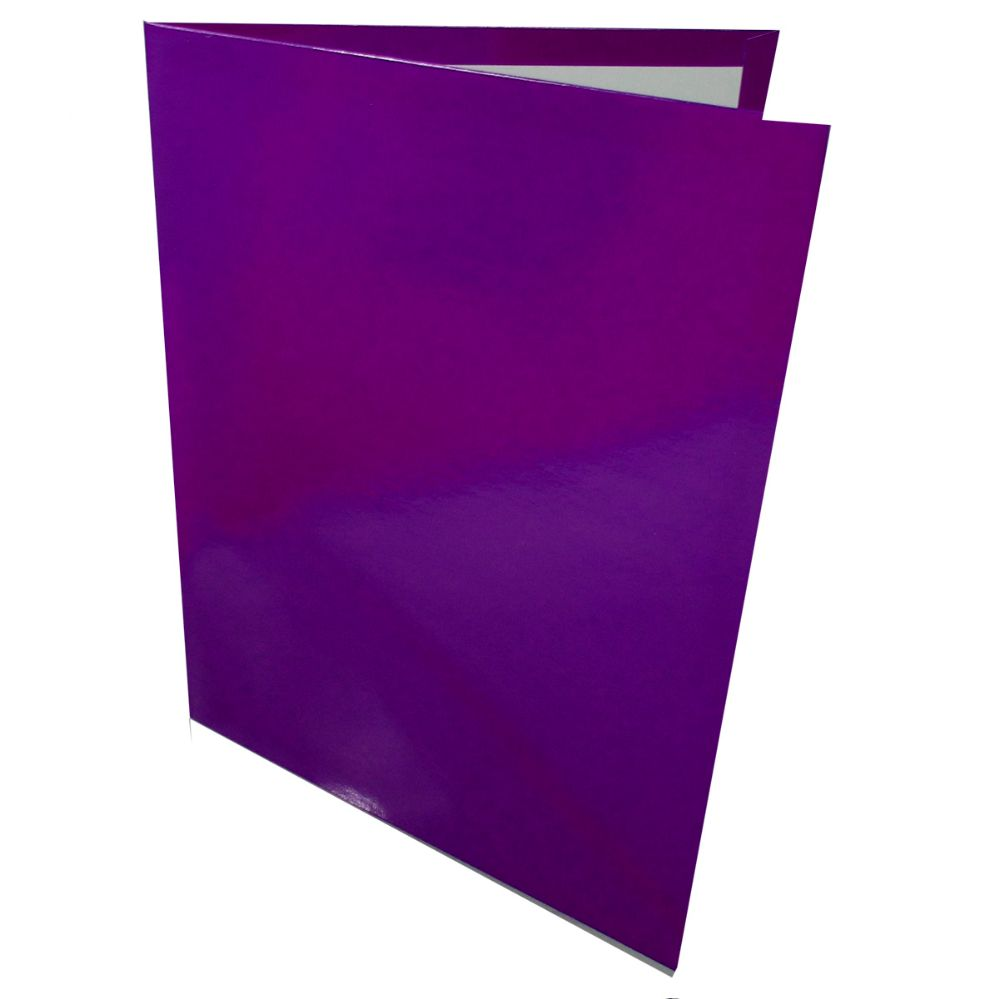125 Bulk OXFORD Twin Pocket Folder Laminated Purple