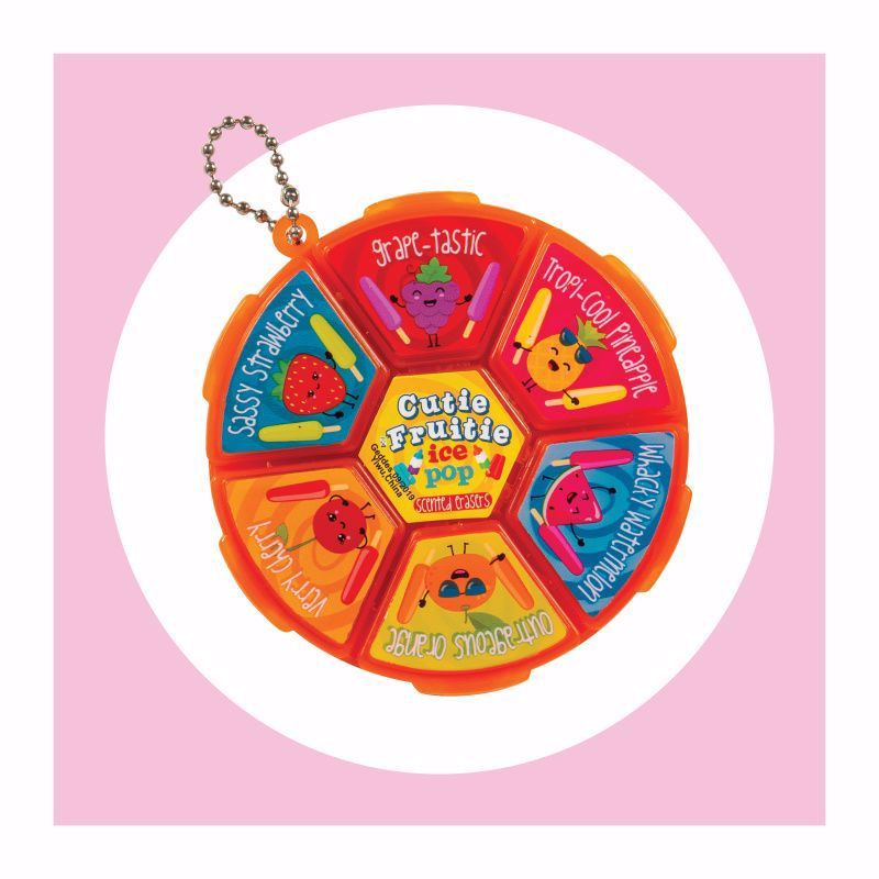 15 Bulk 1ct. Cutie Frutie Ice Pop Eraser Wheel
