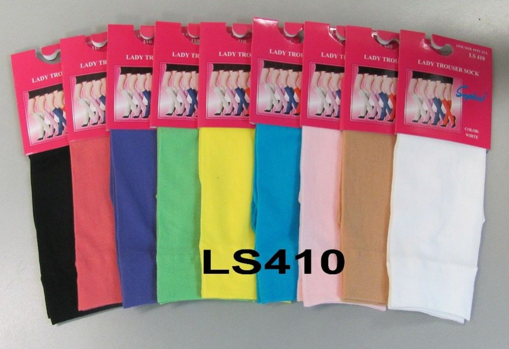 120 Bulk Womens Trouser Socks Size 9-11 Nylon Stretch Knee Socks, Purple