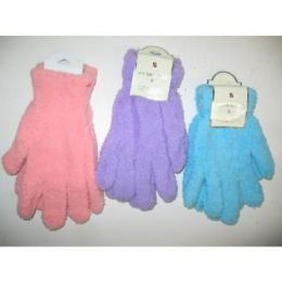 144 Bulk Ladies Fuzzy Gloves