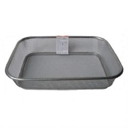 48 Units of Basket Mesh Stainless Rectangular 13in By 10 - Baskets