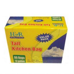 12 Units of Garbage Bag Tall Kitchen 13gal 90ct - Garbage & Storage Bags