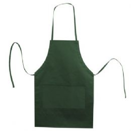 72 Units of Butcher Style Cotton Twill Apron Forest - Kitchen Aprons