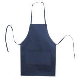 72 Units of Butcher Style Cotton Twill Apron Navy - Kitchen Aprons