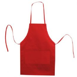 72 Units of Butcher Style Cotton Twill Apron Red - Kitchen Aprons
