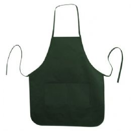 72 Units of Long Round Bottom Cotton Twill Apron Forest - Kitchen Aprons