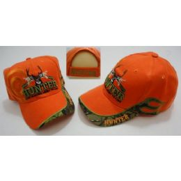 24 Units of Hunter Hat Live To Hunt.Hunt To Live Target Shadow Orange Only - Hunting Caps