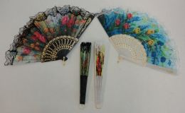 40 Units of Folding Fan With Lace - Home Decor