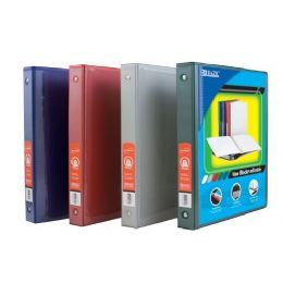 """48 Units of Bazic 1"""" Asst. Color 3-Ring View Binder W/ 2-Pockets - Clipboards and Binders"""