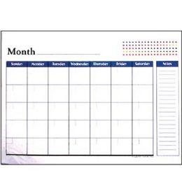 "48 Bulk Bazic 17"" X 22"" Undated 12-Months Desk Pad Calendar"