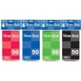 "72 Bulk Bazic 50 Ct. 3"" X 5"" Top Bound Spiral Memo Books (4/pack)"