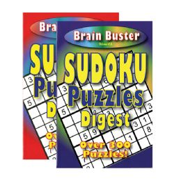 48 Units of Brain Teasing Sudoku Puzzle Book Digest Size - Crosswords, Dictionaries, Puzzle books