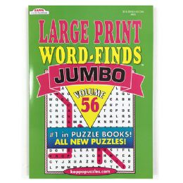 48 Units of Kappa Jumbo Large Print Word Finds Puzzle Book - Crosswords, Dictionaries, Puzzle books