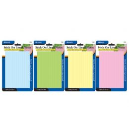 """144 Bulk Bazic 50 Ct. 4"""" X 6"""" Lined Stick On Notes"""