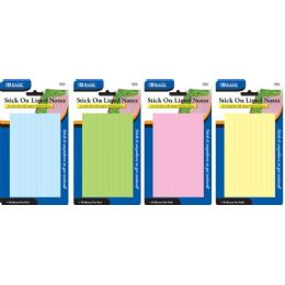"""144 Units of Bazic 70 Ct. 3"""" X 5"""" Lined Stick On Notes - Note Books & Writing Pads"""