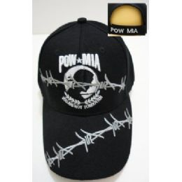 24 Units of Pow mia Hat Barbed Wire - Military Caps