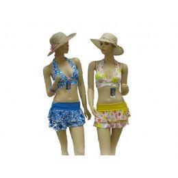 72 Units of 3 Piece Swimsuit Set - Womens Swimwear