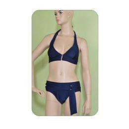 72 Units of 2 Piece Solid Swimsuit Set - Womens Swimwear