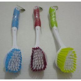 """12 Units of 11"""" LonG-Handled Dish Brush - Brushes"""