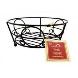 12 Units of Deco Black Fruit Basket - Baskets