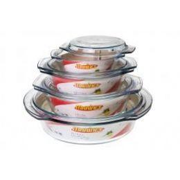 6 Units of Marinex Round Glass Tureen W/ Lid - 0.7 Qt. - Glassware