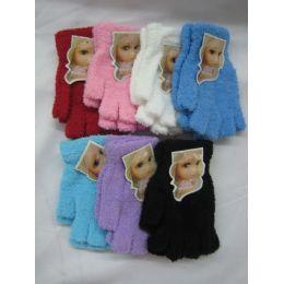 144 Bulk Super Fuzzy Fingerless Gloves