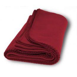 30 Units of Promo Fleece Blankets In Burgundy - Fleece & Sherpa Blankets