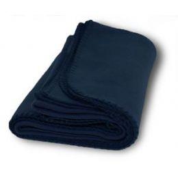36 Units of Promo Fleece Blankets In Navy - Fleece & Sherpa Blankets