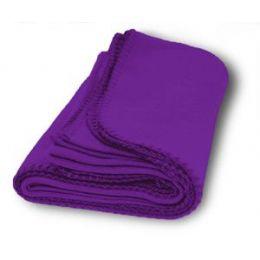 36 Units of Promo Fleece Blankets In Purple - Fleece & Sherpa Blankets