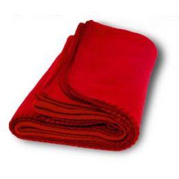 36 Units of Promo Fleece Blankets In Red - Fleece & Sherpa Blankets