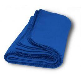 36 Units of Promo Fleece Blankets In Royal - Fleece & Sherpa Blankets