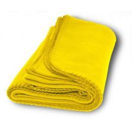 36 Units of Promo Fleece Blankets In Yellow - Fleece & Sherpa Blankets