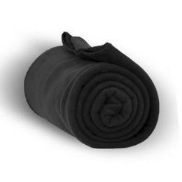 24 Units of Fleece Blankets In Black - Fleece & Sherpa Blankets