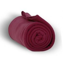 24 Units of Fleece Blankets In Burgundy - Fleece & Sherpa Blankets