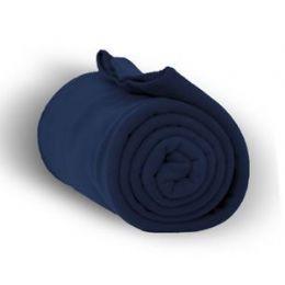 24 Units of Fleece Blankets In Navy - Fleece & Sherpa Blankets