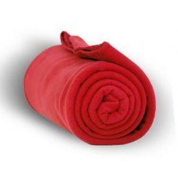 20 Units of Fleece Blankets In Red - Fleece & Sherpa Blankets