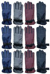 36 Bulk Yacht & Smith Women's Winter Warm Waterproof Ski Gloves, One Size Fits All Bulk Pack