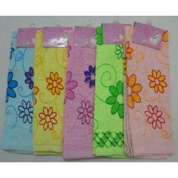 72 Units of Printed Hand ToweL-Floral - Towels