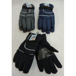 24 Bulk Men's Snow Gloves [solid Color]