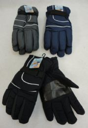 36 Bulk Men's Dark Colors Snow Gloves