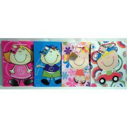 144 Units of Medium Cartoon Gift Bag - Gift Bags