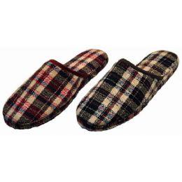 36 Units of Men Plaid Slippers - Men's Slippers