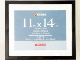 """1440 Units of 11""""x14"""" Black Certificate Frame - Picture Frames"""