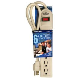 12 Units of Surge Protector 6 Outlet Power Strip - Electrical