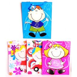 144 Units of Large Party Gift Bags Childrens Designs - Gift Bags