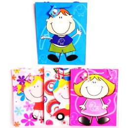 144 Units of Xtra Large Party Gift Bags Kids Designs - Gift Bags