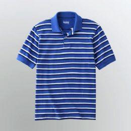 72 Units of Mens Stripe Polo Shirt - Mens Polo Shirts