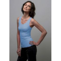 12 Units of Ladies Seamless Tank Top Flat Texture - Womens Camisoles & Tank Tops